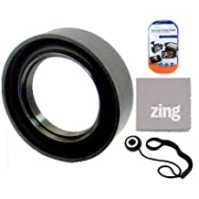 67mm Soft Rubber Lens Hood For Canon EF 70-300mm f/4-5.6L IS USM UD Telephoto Zoom Lens + Cap Keeper + MicroFiber Cleaning Cloth + LCD Screen Protectors