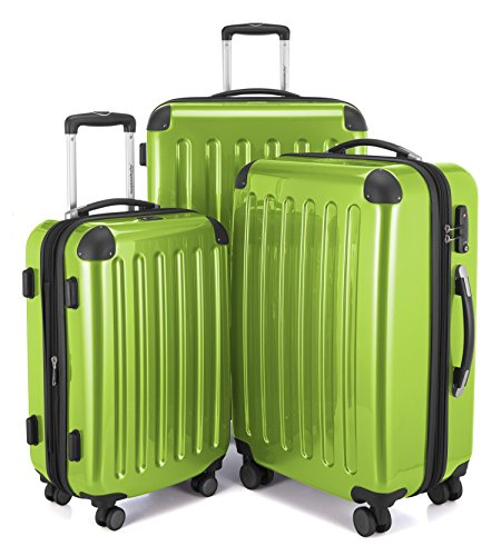 HAUPTSTADTKOFFER Luggages Sets Glossy Suitcase Sets Hardside Spinner Trolley Expandable (20', 24' & 28') TSA (Applegreen) (Time In Port Of Spain Right Now)