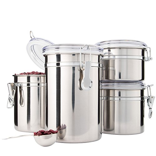 Kitchen Set Node Attributes: Kitchen Canisters Stainless Steel