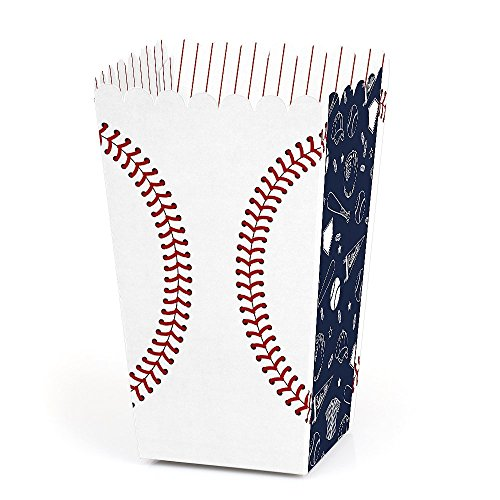 - Batter Up - Baseball - Baby Shower or Birthday Party Favor Popcorn Treat Boxes - Set of 12
