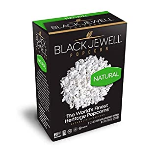 Black Jewell Natural Microwave Hulless Popcorn 10.5 Ounces (Pack of 3)