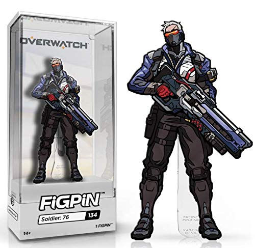 FiGPiN Overwatch: Soldier: 76 - Collectible Pin with Premium Display Case (Display Case For Bookmarks)