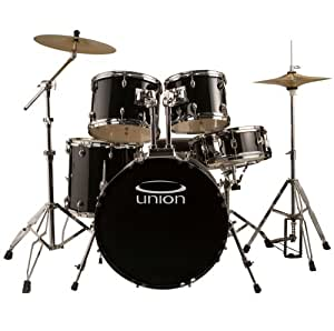 Jazz Cymbal Sets : union black 5 piece rock jazz drum set w hardware cymbals throne musical ~ Vivirlamusica.com Haus und Dekorationen