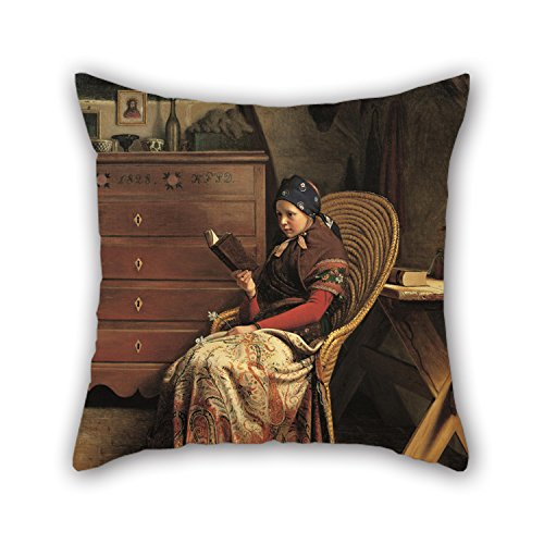 Slimmingpiggy Christmas Pillow Covers Of Oil Painting Christen Dalsgaard - In A Pine Wood. Study For Wedding Floor Kids Outdoor Car Seat Kids Girls 18 X 18 Inches / 45 By 45 Cm(two Sides) (Wood Ore Car)