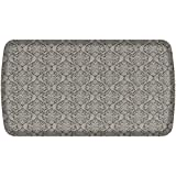 GelPro Elite Premier Anti-Fatigue Kitchen Comfort Floor Mat, 20x36'', Damask Dove Grey Stain Resistant Surface with therapeutic gel and energy-return foam for health & wellness