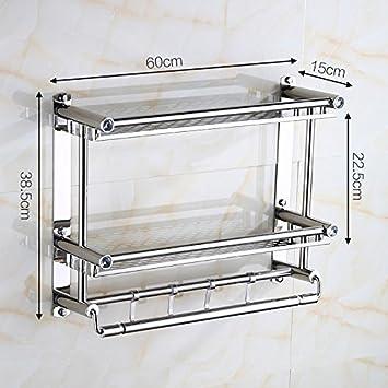 LHbox Tap Acero Inoxidable Toallero Toallero ba/ño estanter/ías,30cm de Acero de una Sola Capa