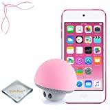 Apple iPod touch Pink 32GB (6th Generation) - Mushroom Bluetooth Wireless Speaker/Ipod Stand - Quality Photo cloth (2015 itouch)