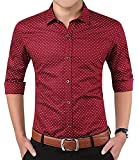 Peppyzone Men's Printed Cotton Full Sleeve Formal Shirt