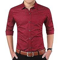 LionRoar Men's Printed Slim Fit Full Sleeve Formal Shirt