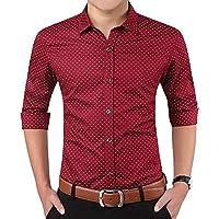 LionRoar Men's Printed Slim Fit Cotton Full Sleeve Formal Shirt