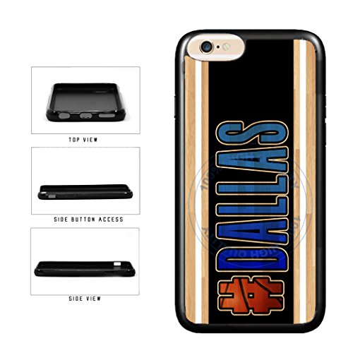 BleuReign(TM) Basketball Team Hashtag Dallas #Dallas TPU RUBBER SILICONE Phone Case Back Cover For Apple iPhone 8 and iPhone 7