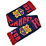FC Barcelona Official Football Crest Winter Scarf (One Size) (Navy/Red)
