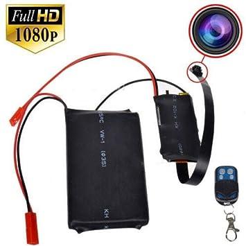 Electro-Weideworld - 1080P HD Cámara Espía Botón Mini SD Tarjeta Seguridad Videocámara DVR Detección de Movimiento: Amazon.es: Bricolaje y herramientas