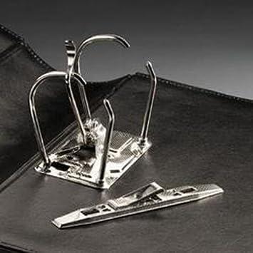 Leuchtturm 314384 Archivador de correspondencia Classic con mecanismo de 2 anillas con palanca, negro: Amazon.es: Oficina y papelería