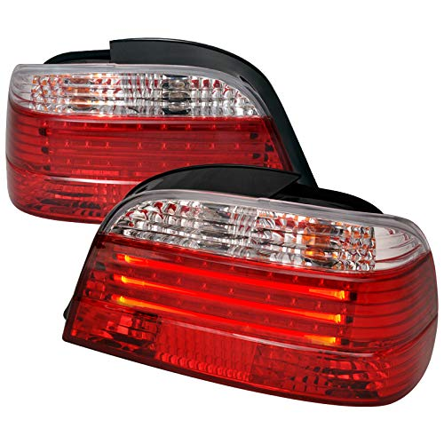 Velocity Concepts For E38 4Dr 7 Series 740I 750I Red Clear Chrome Led Tail Lights