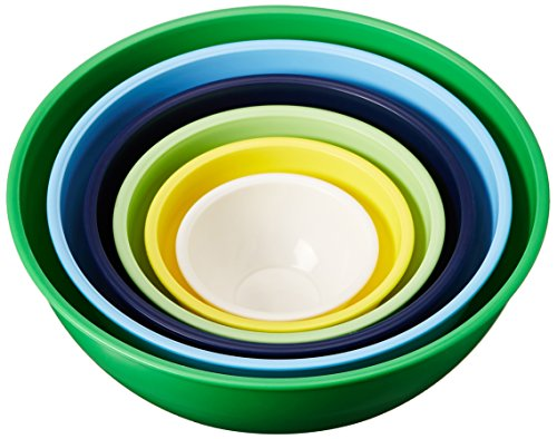 (Gourmet Home Products 6 Piece Nested Polypropylene Mixing Bowl Set,)