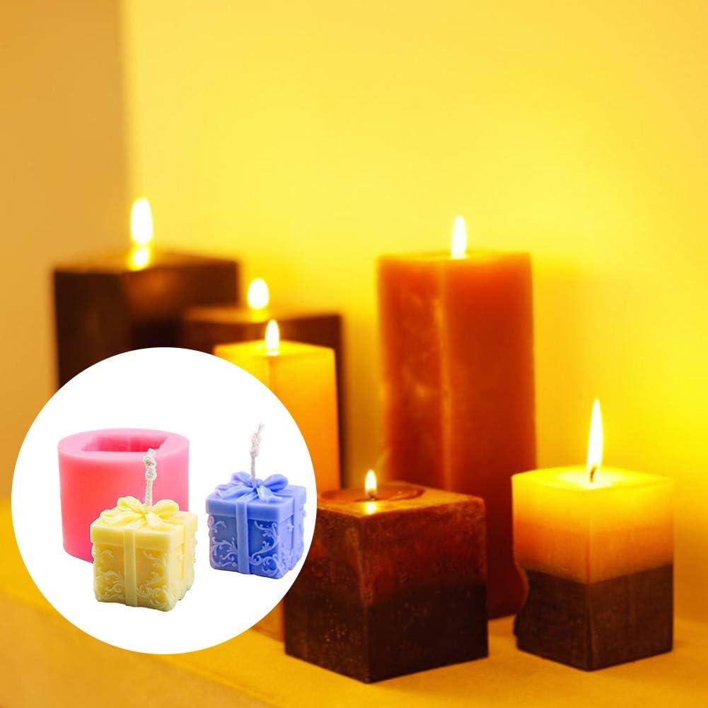 Candela 3D Costruzione di stampi in silicone della candela del sapone 3d candela muffa DIY Stereo Soap stampo in silicone Cilindro fondente Gift Box Casting Tema Natale muffa DIY del silicone