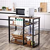 VASAGLE Kitchen Baker's Rack, Coffee Bar, Microwave Oven Stand Metal Frame