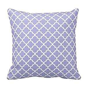 MARCOMAX Moroccan Quatrefoil Pattern Periwinkle Outdoor Throw Pillow Case
