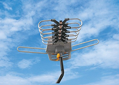 Price comparison product image Outdoor Amplified Antenna - 150 Miles Range - 360° Rotation - Wireless Remote Boost your HDTV Signal with BOOSTWAVES and get FREE TV!
