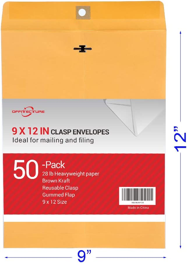 10//Pack Advantus Sturdi-Kleer Vinyl Envelopes ANG1420-10 3 x 5 Inches