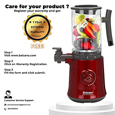 Balzano Yoga Blender/Smoothie Maker/Juicer/Soup Maker with Auto Seed Separation and Immunity Booster - Metallic Red 14