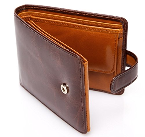 Pelotas Classic Distressed Leather Trifold Mens Wallet Brown