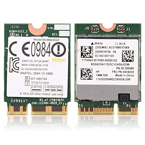 Lenovo E40–30 E40–70 Intel Dual Band Wireless AC Bluetooth 4 WLAN M.2 WIFI Card