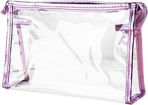 Maquillaje Mac Neceser Maquillaje Tamaño de Viaje de artículos de tocador Accesorios de Viaje para Mujer Viaje artículos de tocador Bolsa Purple: Amazon.es: Equipaje