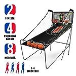 DREAMADE-Macchina-da-Pallacanestro-ElettronicoGioco-di-Basket-Arcade-Canestro-da-Basket-Gioco-Pieghevole-con-Contatore-Elettronico-e-4-Palle-202-x-102-x-205cm