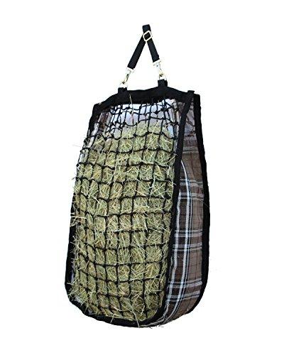 Kensington 4 Flake Slow Feed Hay Bag, Deluxe Black, 4 Flake ()