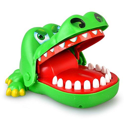 GZQ 痛いワニ ワニ口歯科咬合フィンガーゲーム 危機一発ゲーム パニックアクションおもちゃ (ワニ)