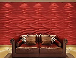 Contempo Living 3D-Sand 3D Wall Panel, 32-Square Feet, White