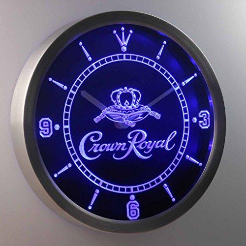 Crown Royal Whiskey 3D Neon Sign LED Wall Clock NC0104-B (Crown Royal Neon Clock)