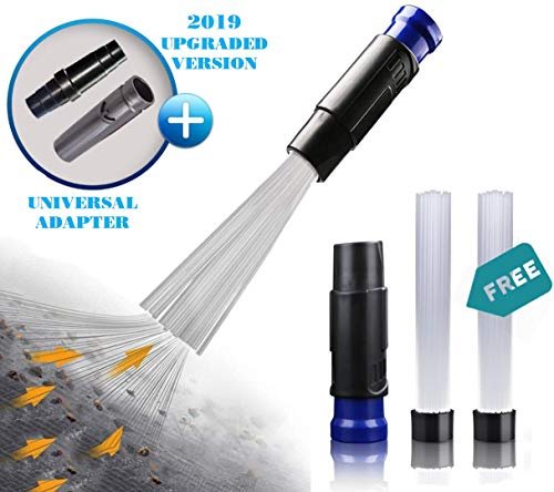 VACEXT Universal Vacuum Attachment Tiny Tubes Flexible Access to Small Spaces where Normal Vacuum Cleaner can't. Dusty Brush Dust Cleaning Sweeper Master Duster Cleaning Tool for Car, Sofa, Drawers