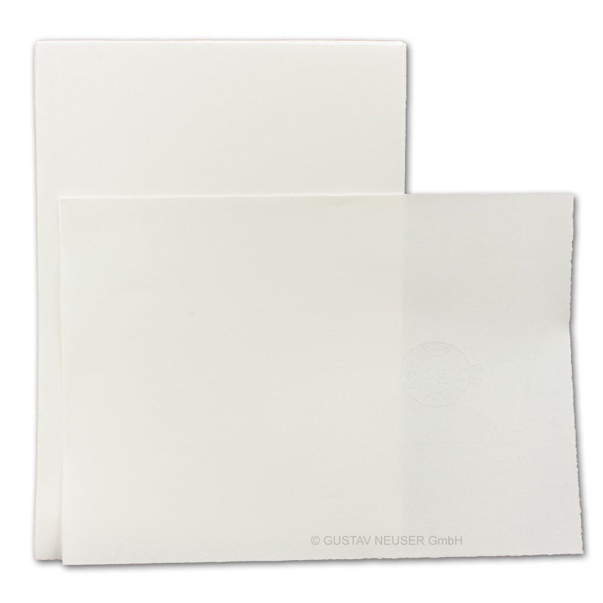 75er Briefset aus Echtem Büttenpapier I 150-teilig 150-teilig 150-teilig I Din A4 Bogen  Din Lang Umschläge gefüttert I Gebrochen-Weiß I Altweiß B07DW6HT4M | Angemessene Lieferung und pünktliche Lieferung  7d3a96