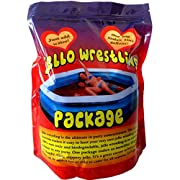Bulk RED JELLO WRESTLING SUPPLY Jelly Package. Crystal mix makes 100Gal (380L) Just add water! Easy Set Kit. Fill a pool, pit, buckets or tub for party games, fun run obstacles, tug of war, slides.
