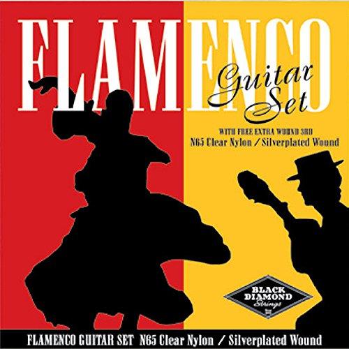 (Black Diamond Flamenco Guitar Strings Clear Nylon Silverplated Wound Loop)