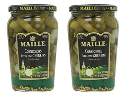 Maille Original Cornichons Gherkins, 13.5 oz (Pack of 2)