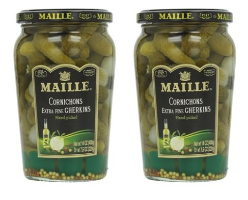 Maille Original Cornichons Gherkins, 13.5 oz (Pack of - Pickles Gherkin