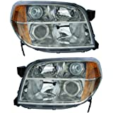 2006-2008 Honda Pilot Headlight Headlamp Head Light Lamp Pair Set Left Driver AND Right Passenger Side (2006 06 2007 07 2008 08)