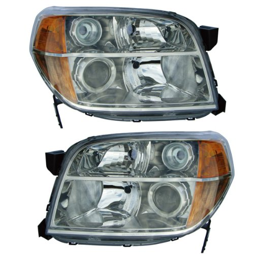 2006-2008 Honda Pilot Headlight Headlamp Head Light Lamp Pair Set Left Driver AND Right Passenger Side (2006 06 2007 07 2008 08) (Honda Pilot Headlight Assembly)