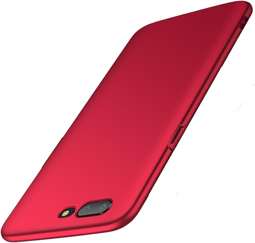 anccer Funda OnePlus 5 [Serie Colorida] [Ultra Delgado] [Anti-Drop] ultrafin Premium Carcasa OnePlus Five (Rojo Liso)