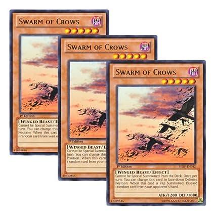 YU-GI-OH RARE SHSP-EN042-1st EDITION SWARM OF CROWS