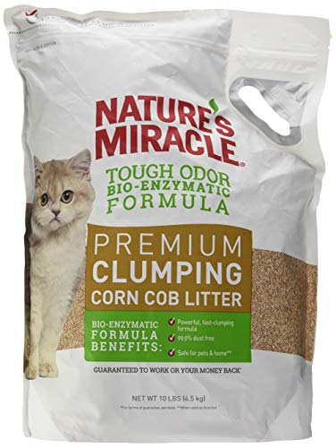 Nature's Miracle Premium Clumping Corn Cob Litter, 10 lb (Arm And Hammer Litter Natural)