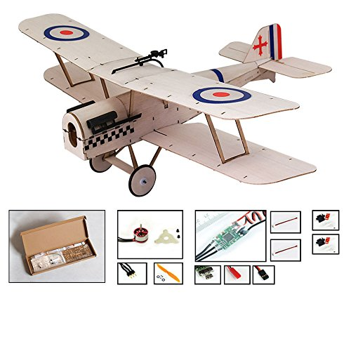 Dancing Wings Hobby Balsa wood airplane Kit Micro 3 CH s.e.5a Royal Biplane Figther by DW Hobby Remote Control plane for adults;RC Un-assembled flying model for fun;Different sets for choice (K0404)