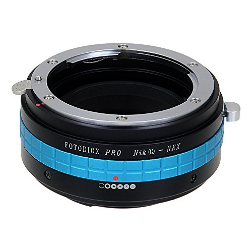 Fotodiox Pro Lens Mount Adapter Compatible with Nikon F-mount G-Type Lenses to Sony E-Mount Cameras