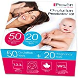 iProven Ovulation Predictor Kit - Ovulation Kit with 50 Ovulation Strips and 20 Pregnancy Tests - Early Pregnancy Detection - Easy Dip&Read Test Strips for Home Use - iProven FK-127A