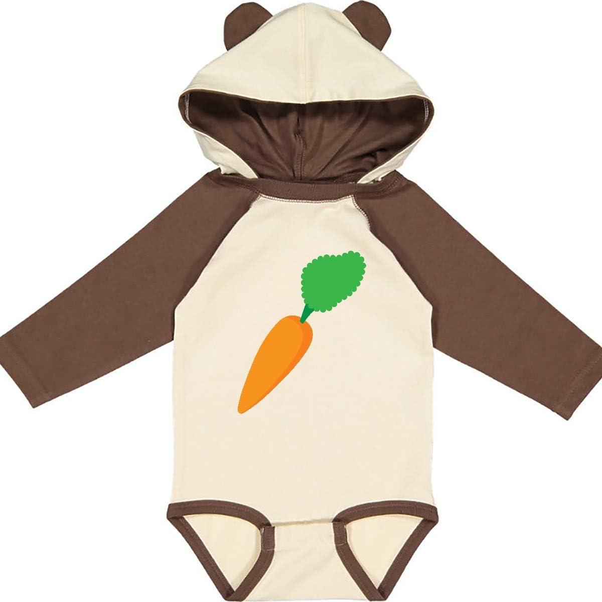 inktastic Carrot Long Sleeve Creeper