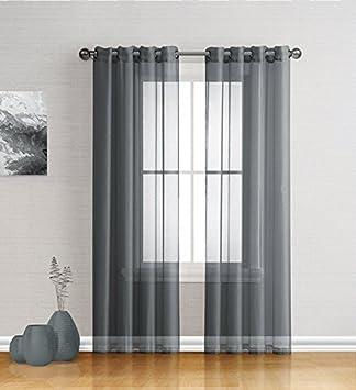 Best Sheer Grommet Window Curtains Panels For Bedroom, Living Room,  Kitchen, Kidu0027s Room